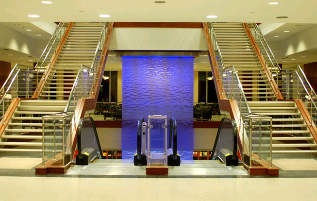 Contemporary water feature indoorwaterfall Home water features